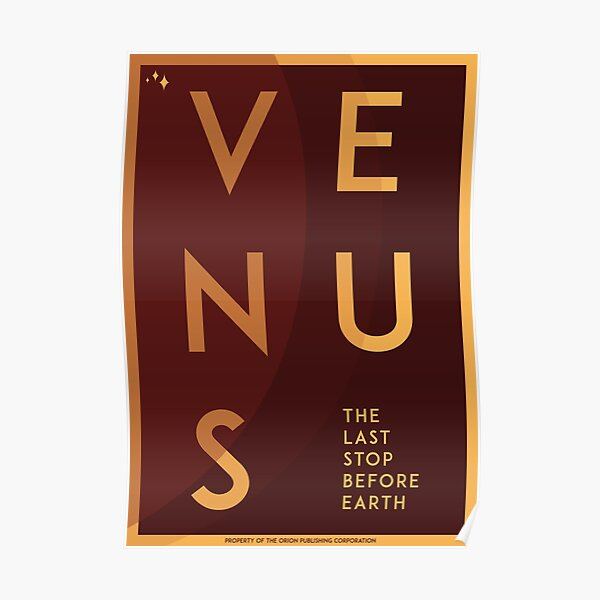 Art Deco Space Travel Poster - Venus Poster