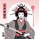 Geisha with Katana by Graham Bliss