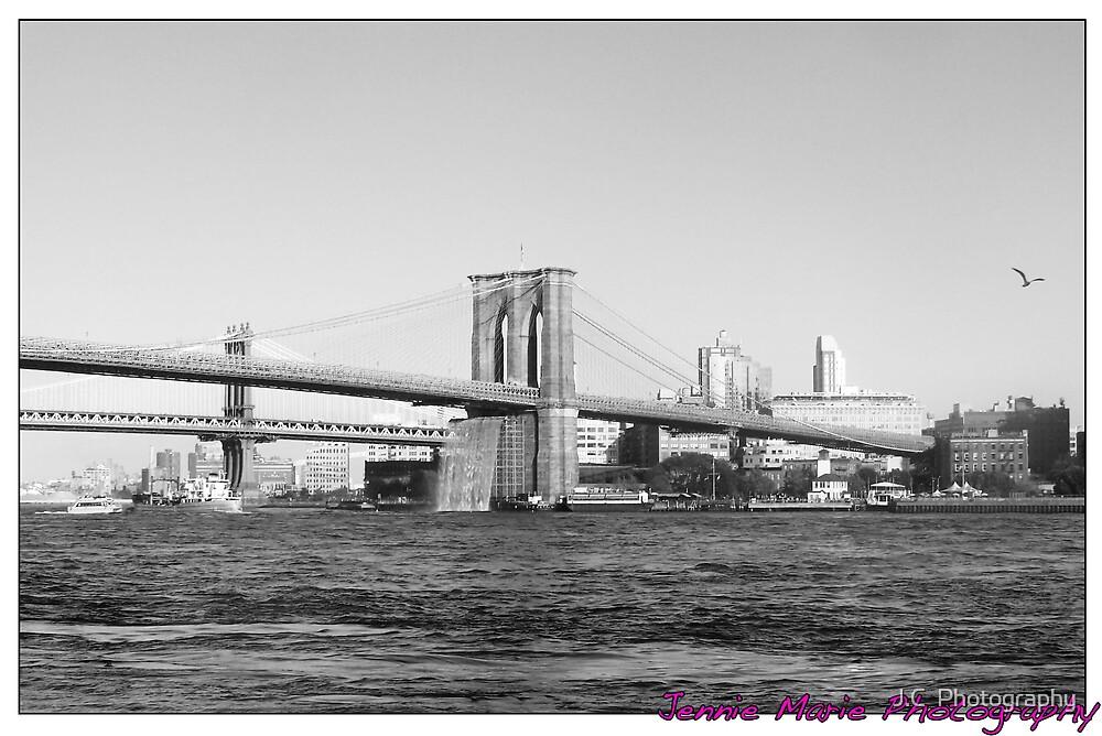 Brooklyn Bridge Waterfall by J.C  Photography