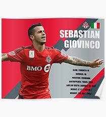 Sebastian Giovinco Toronto FC Infographic Poster