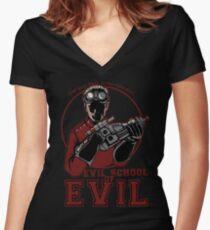 Dr. Horrible's Evil School of Evil Women's Fitted V-Neck T-Shirt