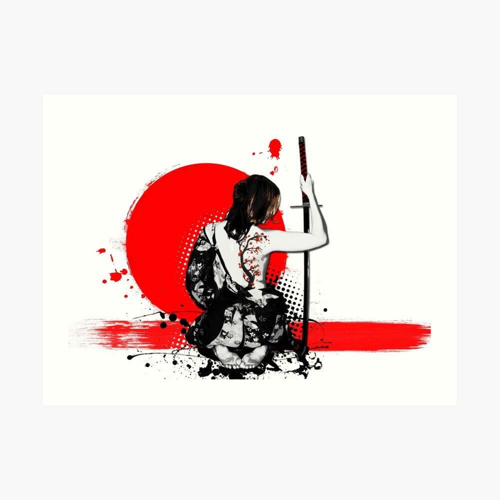 Trash Polka - Female Samurai Art Print