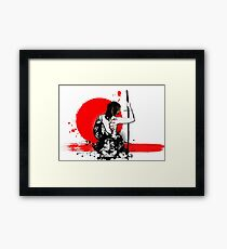 Trash Polka - Female Samurai Framed Print