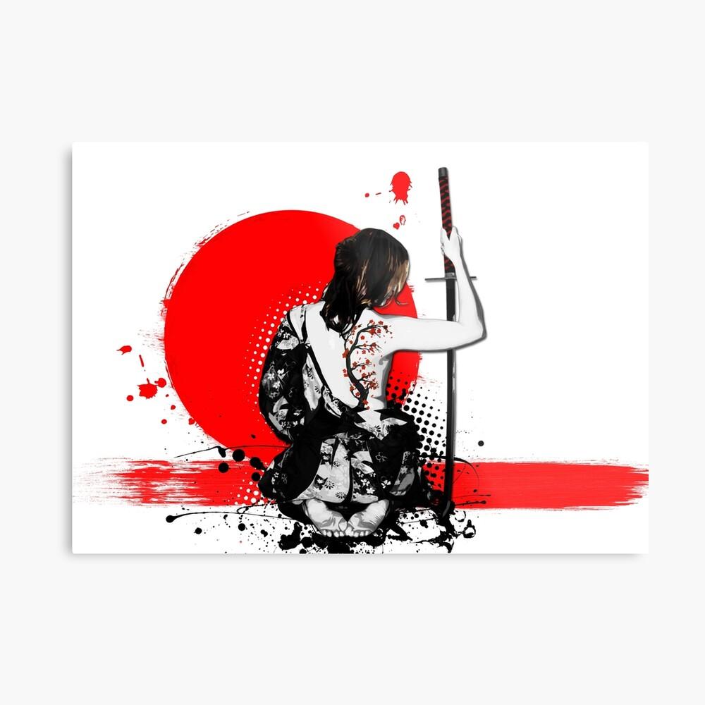 Trash Polka - Female Samurai Metal Print