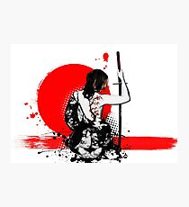 Trash Polka - Female Samurai Photographic Print