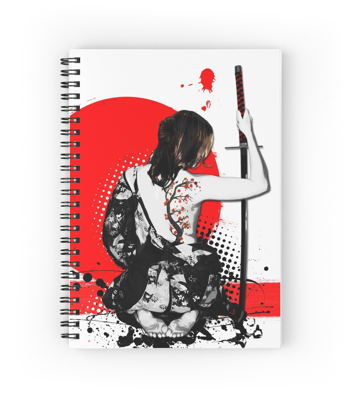 "Manga Samurai Spiral Notebooks By Jiggymiggy: Female Samurai"" Spiral Notebooks By Nicklas"