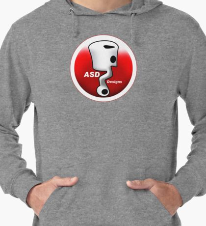 ASD Red and White logo Lightweight Hoodie