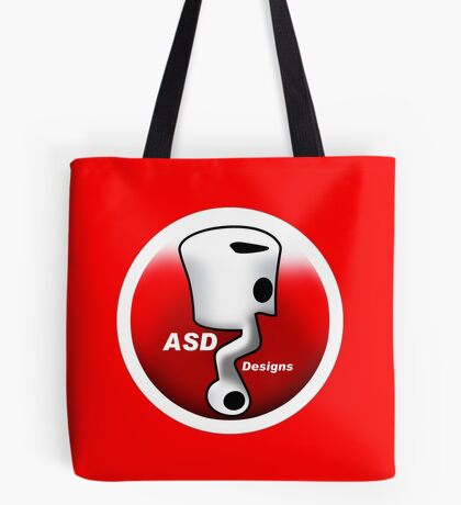 ASD Red and White logo Tote Bag
