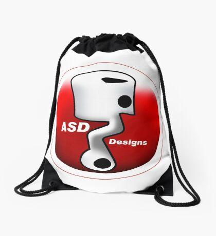 ASD Red and White logo Drawstring Bag