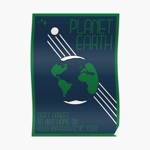 Art Deco Space Travel Poster - Earth Poster