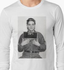 ELVIS ARMY MUGSHOT Long Sleeve T-Shirt
