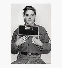 ELVIS ARMY MUGSHOT Photographic Print