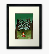 Little Red Riding Hoood Framed Print