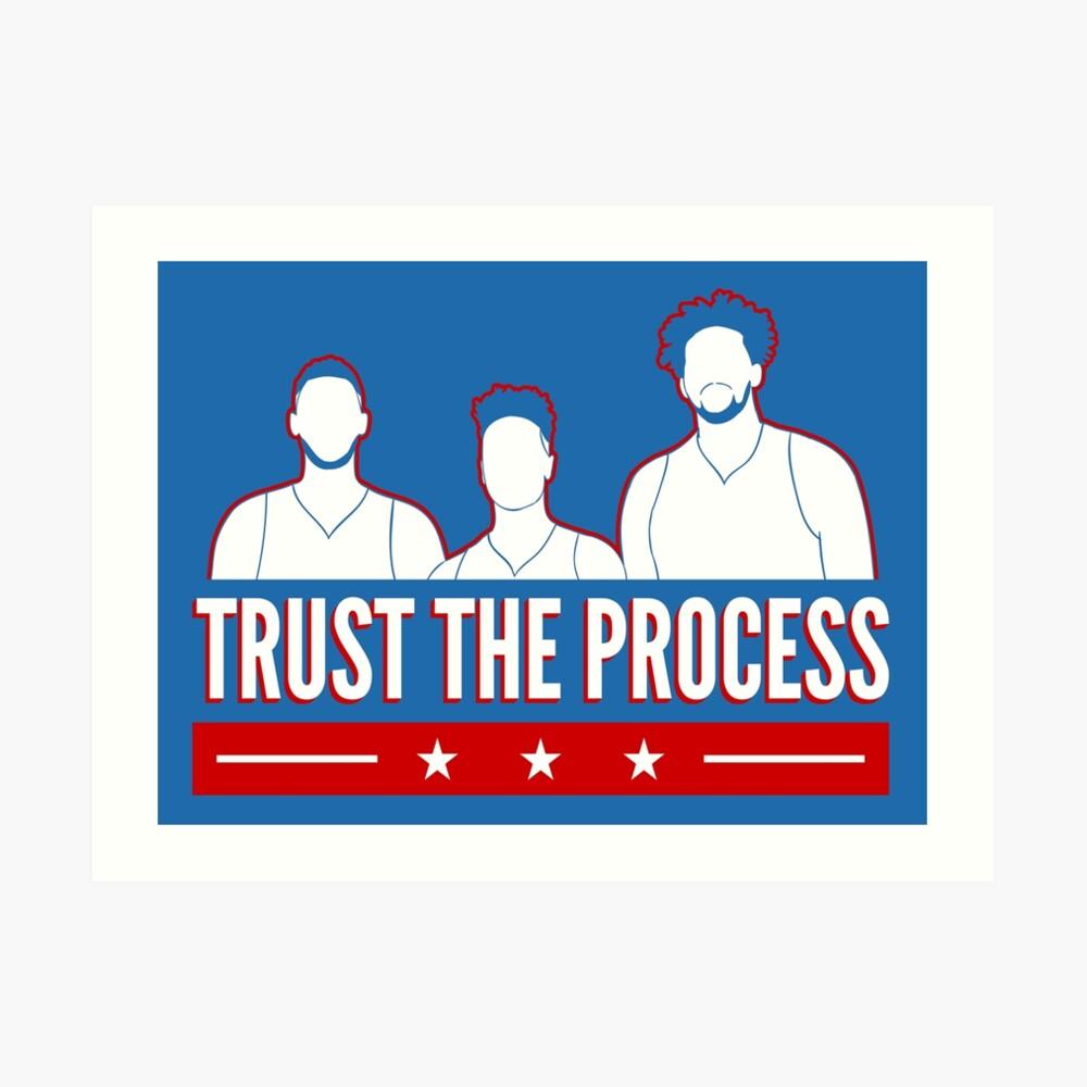 Vertraue dem Prozess Kunstdruck