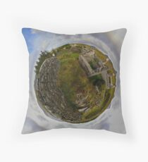 Ruins at Cashelnagor, County Donegal, Ireland Throw Pillow