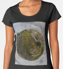 Ruins at Cashelnagor, County Donegal, Ireland Women's Premium T-Shirt