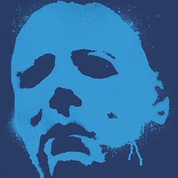 Sandman Stencil II (Blue) by GREYEGGSGLOBAL