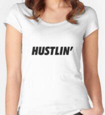 Hustlin' Women's Fitted Scoop T-Shirt