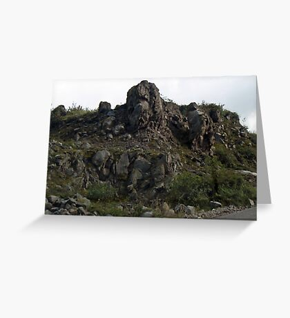 The Troll in the Rocks Greeting Card