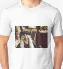 Vintage witch closeup log house T-Shirt