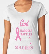 god gives his hardest battles to his strongest sol Women's Premium T-Shirt
