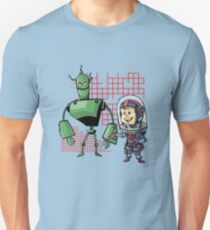 SpaceKid and Leader001 of the GreenBot Planet Unisex T-Shirt