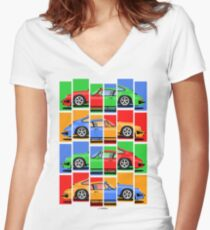 911 Vintage Classic Car Women's Fitted V-Neck T-Shirt