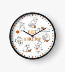 Everyday Life of a Little Sheep Clock
