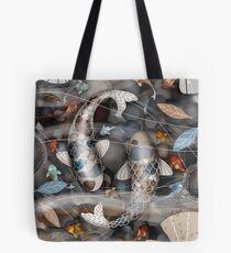 Koi Fish Pond Tote Bag