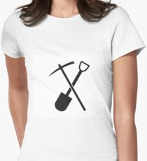 shovel and pickaxe Women's Fitted T-Shirt