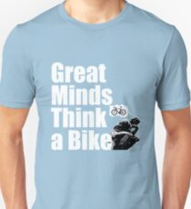 Funny Cycling Design - Great Minds Think A Bike T-Shirt