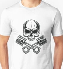 Motorcycle Pirate Skull with Engine T-Shirt