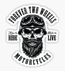 Motorcycle Biker Skull Tattoo Sticker