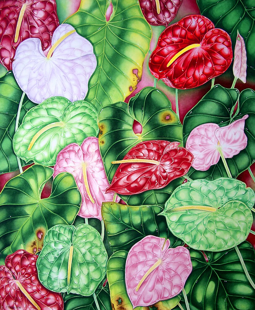 Hawaiian Anthuriums by joeyartist