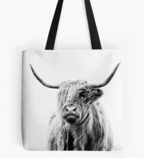 portrait of a highland cow (landscape format) Tote Bag