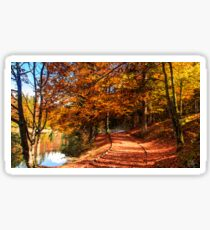 Autumn foliage at the alpine lake Sticker