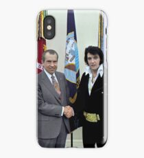 Richard M. Nixon and Elvis Presley at the White House - 12/21/1970 iPhone Case/Skin