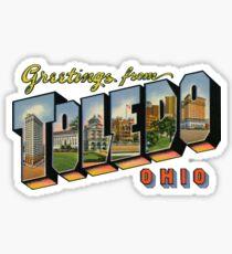 Greetings from Toledo, Ohio Sticker