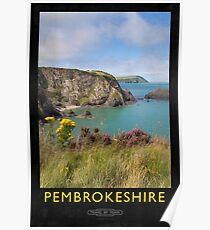 Pembrokeshire Railway Poster Poster