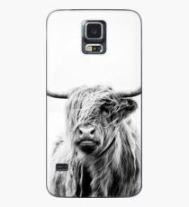 portrait of a highland cow Hülle & Klebefolie für Samsung Galaxy