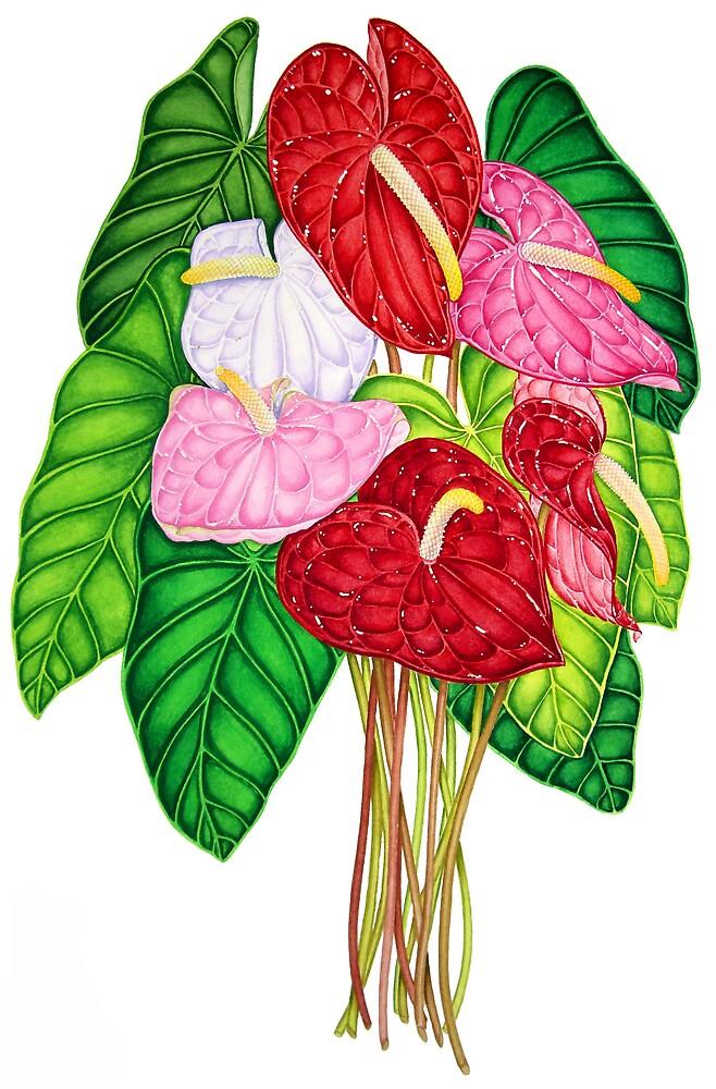 Anthurium Bouquet by joeyartist