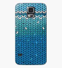 Aquamarine Knit Case/Skin for Samsung Galaxy