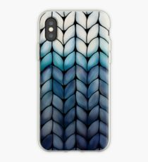 Chunky Ocean Blue Knit iPhone Case