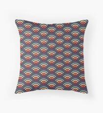 rainbowaves (dark) Floor Pillow