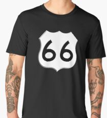 ROUTE 66, Get your Kicks on Route 66, US 66, USA, America, Will Rogers Memorial Highway Men's Premium T-Shirt