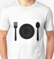 dish with cutlery T-Shirt