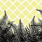Tropical Ferns on Pattern #redbubble #decor #buyart by designdn