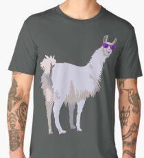 Cool Llama In Sunglasses Men's Premium T-Shirt