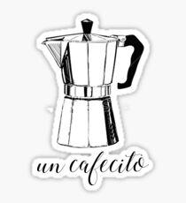 Un Cafecito, Kaffee Sticker