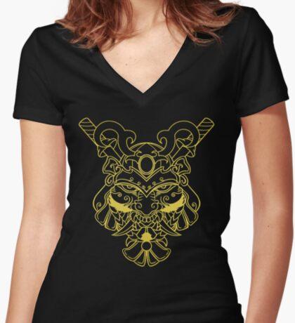 Golden Samurai Fitted V-Neck T-Shirt